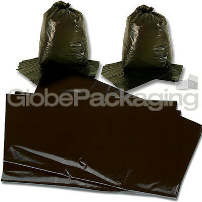 20 STRONG HEAVY DUTY BLACK REFUSE SACKS BAGS 18x29x39