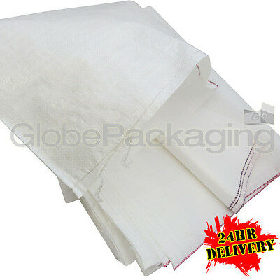 50 WOVEN POLYPROPYLENE RUBBLE BUILDER SACKS BAGS 22x36