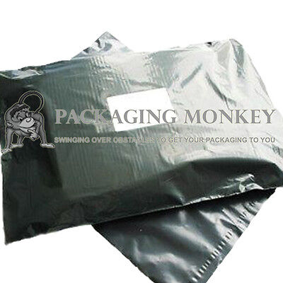 500 x Small Grey Mailing Postal Postage Bags 4x6