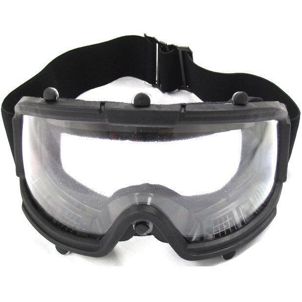 AIRSOFT TACTICAL SAFETY GOGGLES w/ CLEAR WIDE VIEW LENS Protection