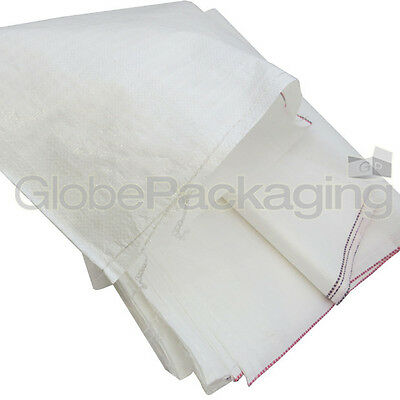 10 WOVEN POLYPROPYLENE RUBBLE BUILDER SACKS BAGS 22x36