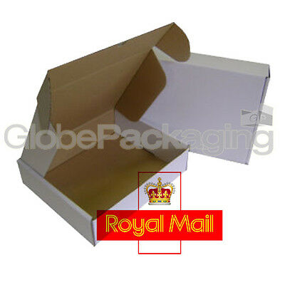 5 x MAX SIZE ROYAL MAIL SMALL PARCEL White Cardboard Postal Boxes 419x338x72mm