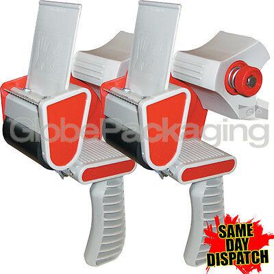 "2 HEAVY DUTY BOX PACKING TAPE GUNS DISPENSERS 50mm (2"")"