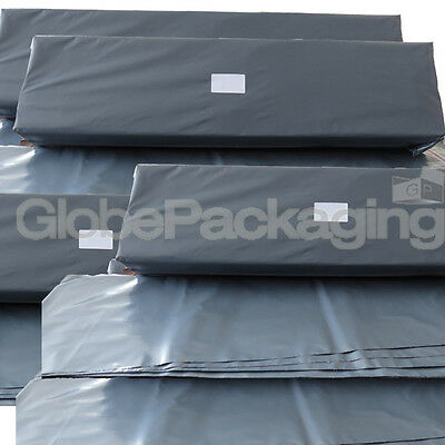 25 x LONG GREY POSTAL MAILING BAGS 300x900mm - 12x35