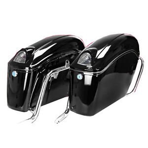 Black Motorcycle side boxs Luggage Tail 239067