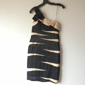 London Times one-shoulder tiered dress
