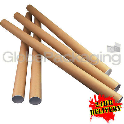 20 x A0 Quality Postal Cardboard Poster Tubes Size 885mm x 50mm + End Caps 24HRS