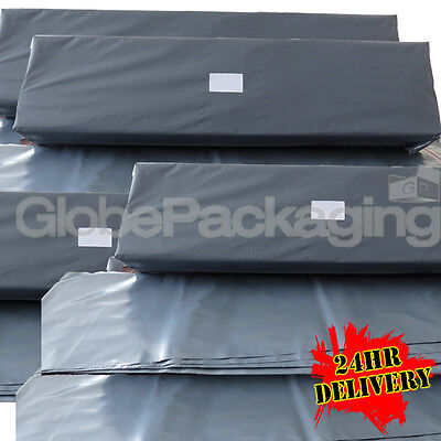 2000 x LONG GREY POSTAL MAILING BAGS 300x900mm - 12x35