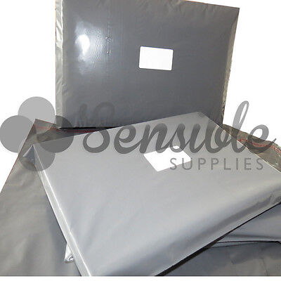 100x Grey Mailing Postal Postage Mail Bags 14