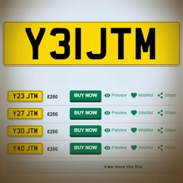 Private Number Plate - Y 31 JTM | in Hessle, East Yorkshire | Gumtree