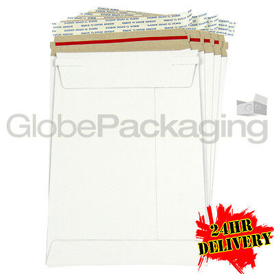 50 x Strong C5 / A5 Size ALL BOARD White Postal Mailing Envelopes 229x162mm 24HR