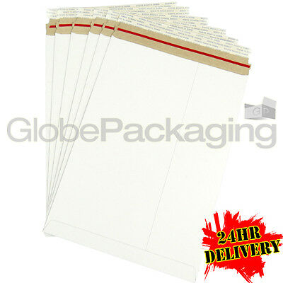 1000 x Strong C4 / A4 Size ALL BOARD White Postal Mailing Envelopes 324x229mm