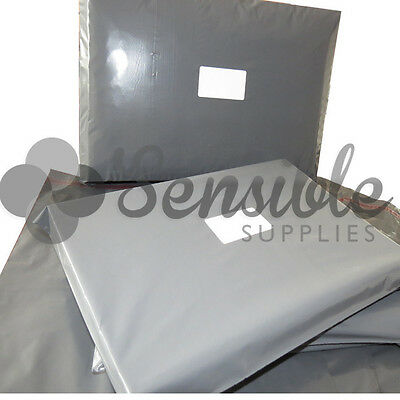 50x Grey Mailing Postal Postage Mail Bags 16