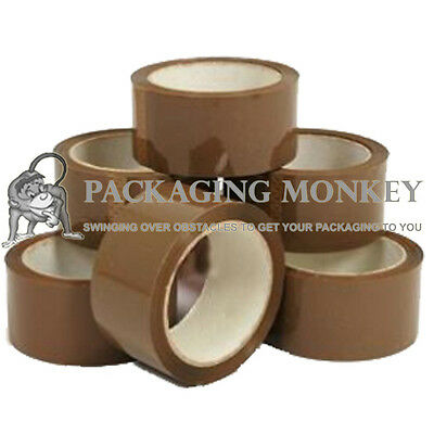 2 Rolls Of Strong Brown Packing Parcel Tape 48mm x 66M