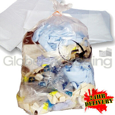 400 STRONG HEAVY DUTY CLEAR REFUSE SACKS BAGS 18x29x39