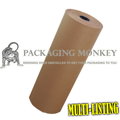 Heavy Duty Thick Brown Kraft Wrapping Paper - Free Pp