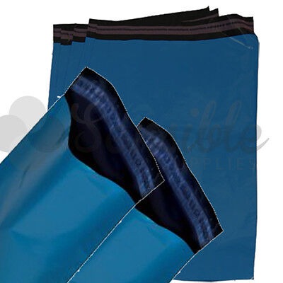 100x BLUE Mailing Postal Postage Mail Bags 7