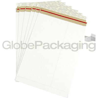 10 x Strong C4 / A4 Size ALL BOARD White Postal Mailing Envelopes 324x229mm