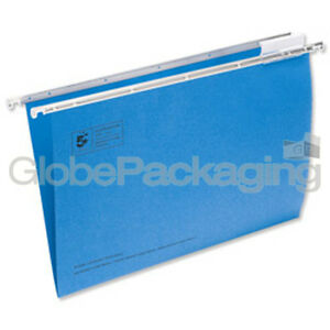 10-x-FOOLSCAP-BLUE-SUSPENSION-FILES-TABS-INSERTS