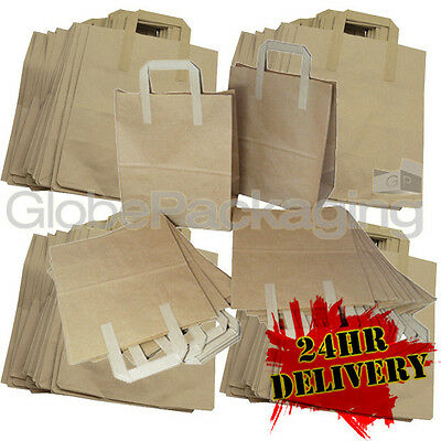 1500 LARGE KRAFT PAPER CARRIER SOS BAGS 10x5.5x12.5