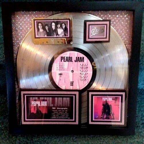 "PEARL JAM   10   Platinum Award  (13X)  Certified 2009  AUTHENTIC W/COA  ""EPIC"""