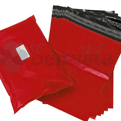 100x RED Mailing Postal Postage Mail Bags 12