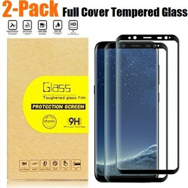 2 Pack Tempered Glass Screen Protector for Samsung Galaxy S8 Plus Note8 S7 Edge Cell Phone Accessories