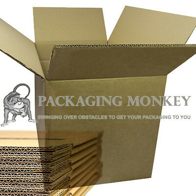 """180 x DOUBLE WALL 14x14x14"""" MAILING CARDBOARD MOVING BOXES 14""""x14""""x14"""" *DEAL*"""