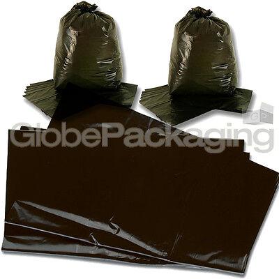 10 STRONG HEAVY DUTY BLACK REFUSE SACKS BAGS 18x29x39