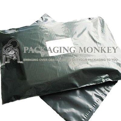 100 x Grey Mailing Postal Postage Bags 13x19