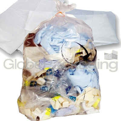10 STRONG HEAVY DUTY CLEAR REFUSE SACKS BAGS 18x29x39