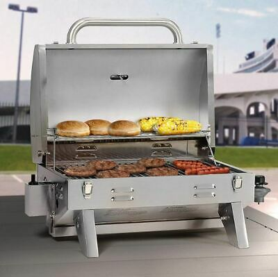 Portable Outdoor Gas Grill Table Top Countertop BBQ Camping RV Boat Food Propane ()