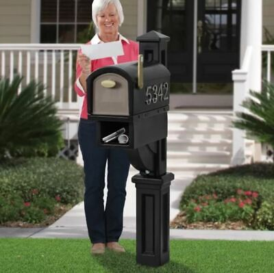 Large Mailbox XL Residential Commercial Post Pedestal Newspaper Magazine (Large Residential Mailboxes)