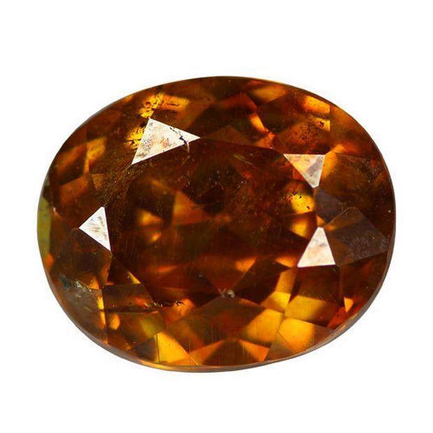 2.74 cts Rare Natural Oval-cut MultiColor/GreenishOrange VS1 Sphalerite (Spain)