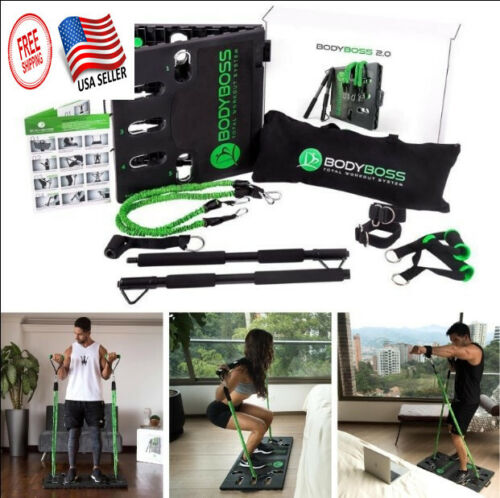 BodyBoss 2.0 - Full Portable Home Gym Resistance Bands Workout Package 4 Bands