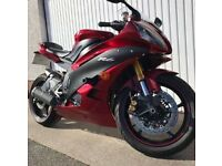2008 Yamaha R6 in Candy Red