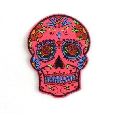 Sugar Skull Patches Iron-On Embroidered Dia De Los Muertos / Day Of The Dead #2