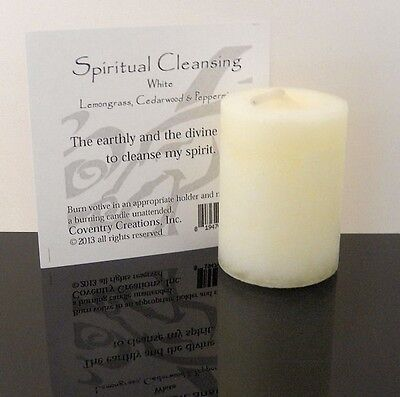 SPIRITUAL CLEANSING Candle Wiccan - Coventry Creations Blessed Herbal votive