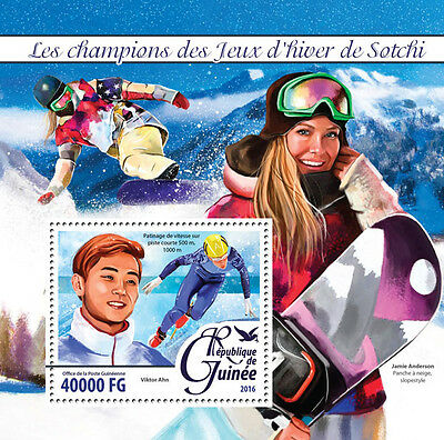 Guinea 2016 MNH Winter Games Sochi Champions Medal Winners 1v SS Olympics Stamps