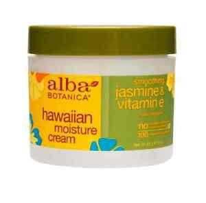 Alba Botanica Hawaiian Moisture Cream, Jasmine - Vitamin E, 3 oz