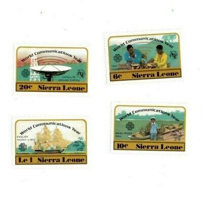 VINTAGE CLASSICS - Sierra Leone - 591-4 Communications Year - Set Of 4 - MNH