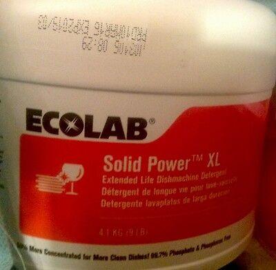 Fresh New. Ecolab 6100185 Solid Power Xl Machine Dishwashing Detergent.