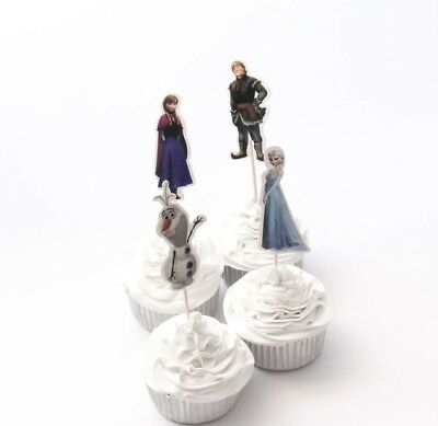 Frozen Characters For Party (NEW Disney Frozen Theme Character Cupcake Toppers x 24 - For)