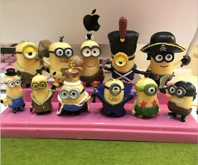Despicable Me Minions Movie 12 pcs Mini Toy Figures Set Cake Topper & Party Gift - Minions Cake Topper
