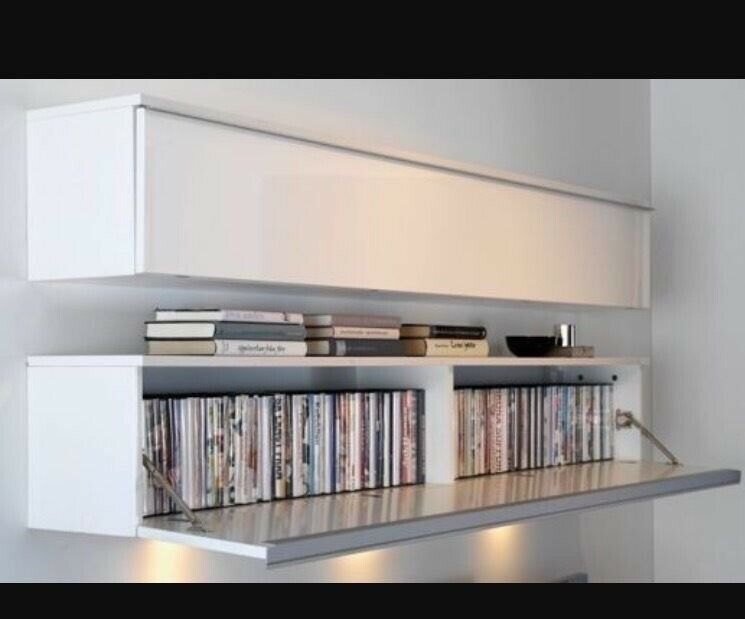 Ikea Besta Burs Wall Unit Shelf Storage Ideal For Dvds