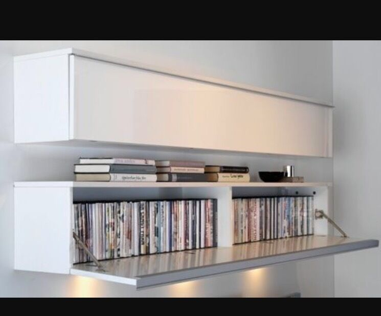 Ikea besta burs wall shelf tv unit dvd unit white high - Meuble tv ikea besta burs ...