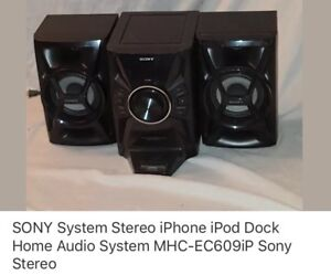 Sony System Stereo iPod iPhone dock home audio