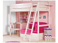 Thuka Trendy 29 High Sleeper Bed with desk & sofa bed(futon)