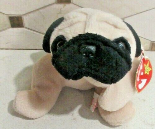 Ty Beanie Baby Pugsly the Dog style 4106 DOB 5-2-96 MWT