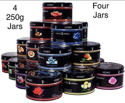 4 Jars 250G Each 1Kg Hydro Herbal Hookah Shisha Molasses Water Pipe  Not Tobacco
